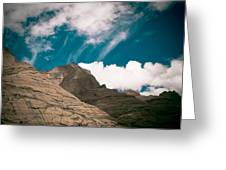 Himalyas Mountains In Tibet With Clouds Greeting Card by Raimond Klavins