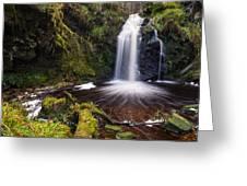 Hindhope Waterfall Greeting Card