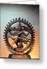 Hindu Statue Of Shiva In Nataraja Dance Pose Greeting Card