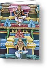 Hindu Temple Deity Statues Greeting Card