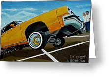 Hip Hoppin Chevy Greeting Card