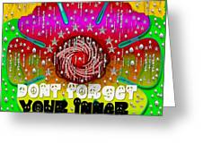 Hippie Art Greeting Card