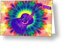 Hippie Guitar Greeting Card
