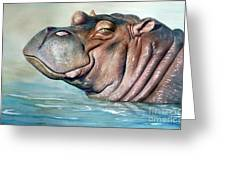 Hippo Lisa Greeting Card