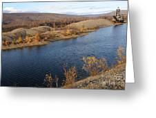 Historic Alaska Gold Dredge In Fall Greeting Card