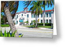 Historic And Beautiful Crest Theatre In Delray Beach. Florida. Greeting Card