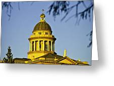 Historic Auburn Courthouse 5 Greeting Card by Sherri Meyer