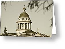Historic Auburn Courthouse 6 Greeting Card by Sherri Meyer