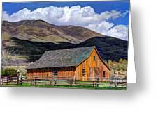 Historic Barn - Wasatch Front Greeting Card