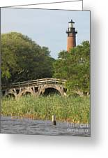 Historic Bridge And Currituck Light Greeting Card