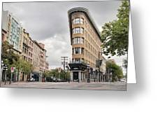 Historic Buildings In Gastown Vancouver Bc Greeting Card