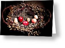 Historic Christmas Wreath Greeting Card