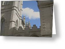 historic churches photography Detail Notre Dame Basilica Montreal Greeting Card