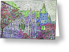 Historic Churches St Louis Mo - Digital Effect 4 Greeting Card