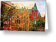 Historic Churches St Louis Mo - Digital Effect 6 Greeting Card