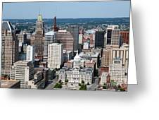 Historic City Centre Baltimore Greeting Card