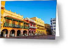 Historic Colonial Facades Greeting Card
