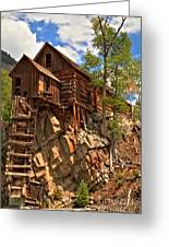 Historic Crystal Mill Greeting Card by Adam Jewell