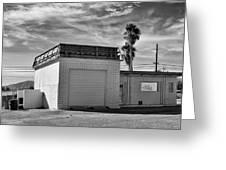 Historic Estrella Gas Station Desert Hot Springs Greeting Card