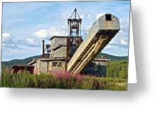 Historic Gold Dredge In Chicken-ak  Greeting Card