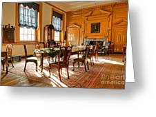 Historic Governor Council Chamber Greeting Card by Olivier Le Queinec