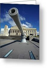 Historic Gun And Auckland War Memorial Greeting Card