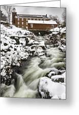Historic Harrisville Nh In Winter Greeting Card