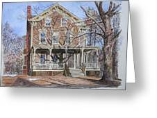 Historic Home Westifled New Jersey Greeting Card