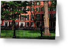 Historic Homes Of Beacon Hill, Boston Greeting Card