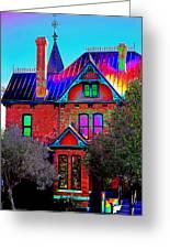 Historic House Pop Art Greeting Card