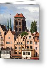 Historic Houses In Gdansk Greeting Card