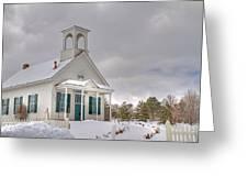Historic Huffaker Schoolhouse Greeting Card