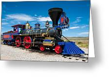 Historic Jupiter Steam Locomotive - Promontory Point Greeting Card by Gary Whitton