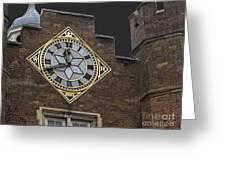 Historic London Clock Greeting Card
