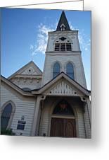 Historic Methodist Church Looking Up Greeting Card