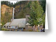 Historic Multnomah Falls Lodge Greeting Card