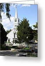 Historic Mystic Church - Connecticut Greeting Card