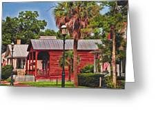Historic Pensacola With Added Color Greeting Card
