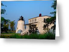Historic Piney Point Lighthouse Greeting Card