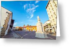 Historic Plaza In Cartagena Colombia Greeting Card