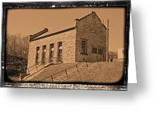 Historic Power Sepia Greeting Card