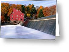 Historic Red Mill At Fall Clinton New Jersey Greeting Card