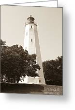 Historic Sandy Hook Lighthouse Greeting Card