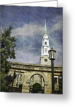 Historic Savannah Church Greeting Card