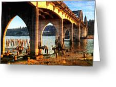 Historic Siuslaw River Bridge Greeting Card