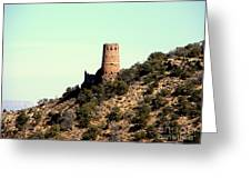 Historic Tower Of Grand Canyon Greeting Card