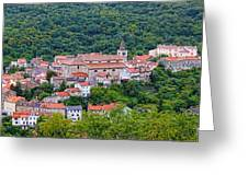 Historic Town Of Bakar In Green Forest Greeting Card