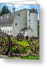 Historic Uniontown Washington Dairy Barn Greeting Card