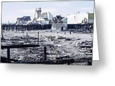 Historic Venice Pier In California Burned Down Over 40 Years Ago - Home To Lawrence Welk's Tv Show. Greeting Card