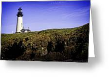 Historic Yaquina Lighthouse Greeting Card